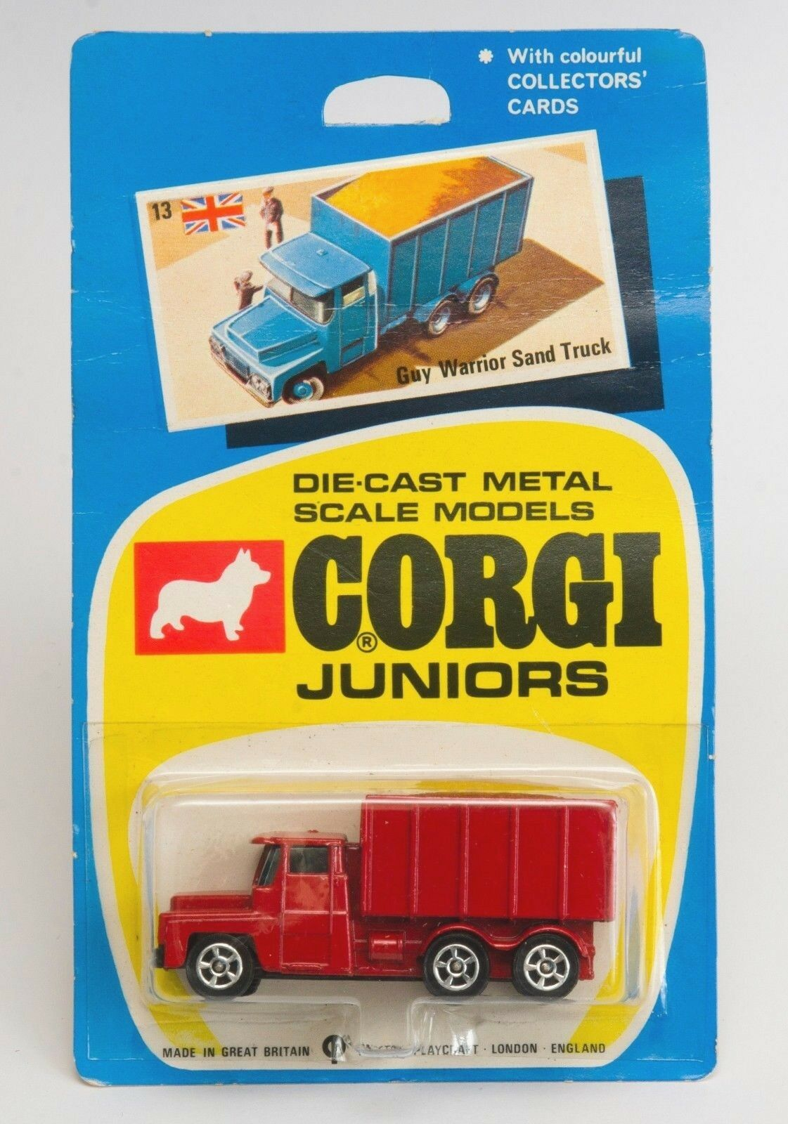 CORGI JUNIORS Nº 13 Guy GUERRIERO Sabbia Camion. Nuovo di zecca in massa. ANNI 1970