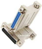 25 Pin Serial Port Male Male Adapter DB25 RS232 Null Modem