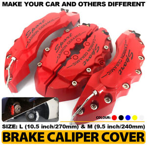 "3D Brake Caliper Covers Style Disc Universal Car Front Rear 4Pc Yellow 10.5/"" CY3"