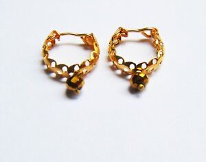 Indian Gold Plated Hoop Earrings Set Small Bali Jhumki For Kids