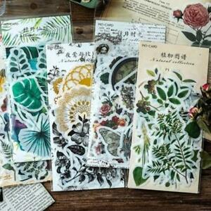 Laptop-Photo-Journal-Plant-Stickers-Diary-Label-Phone-Decor-Paper-DIY-Stationary