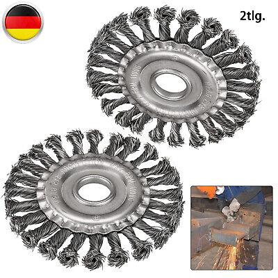 2x Stahlbürste Drahtbürste Ø125mm Gezopft Kegelbürste Für Flex /& Winkelschleifer
