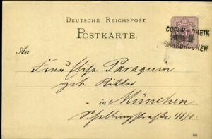 414488) Saar Bahnpost L3 Coeln (rhin) - Sarrebruck 1886 Sur Dr-gsk-ücken 1886 Auf Dr-gskfr-fr Afficher Le Titre D'origine Apparence éLéGante