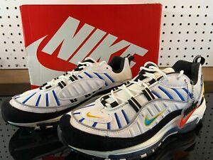 New Nike Air Max 98 White Teal Nebula University Gold Size Us