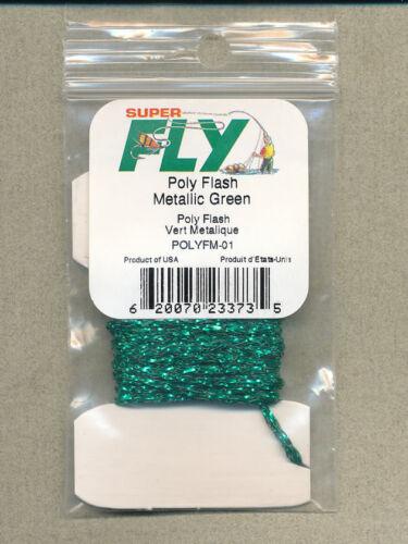 Poly Flash metallic 3 yds     POLYFM-01 green