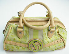XOXO Satchel Purse Handbag Green Tan