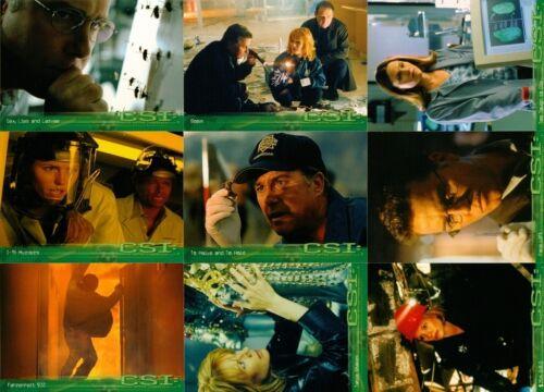 CSI Season 1        Full Base set of 100  Trading Cards