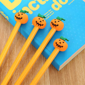 6pcs-Cute-Cartoon-Kawaii-Funny-pumpkin-Gel-Ink-Roller-Ball-Point-Pen-School-Kids