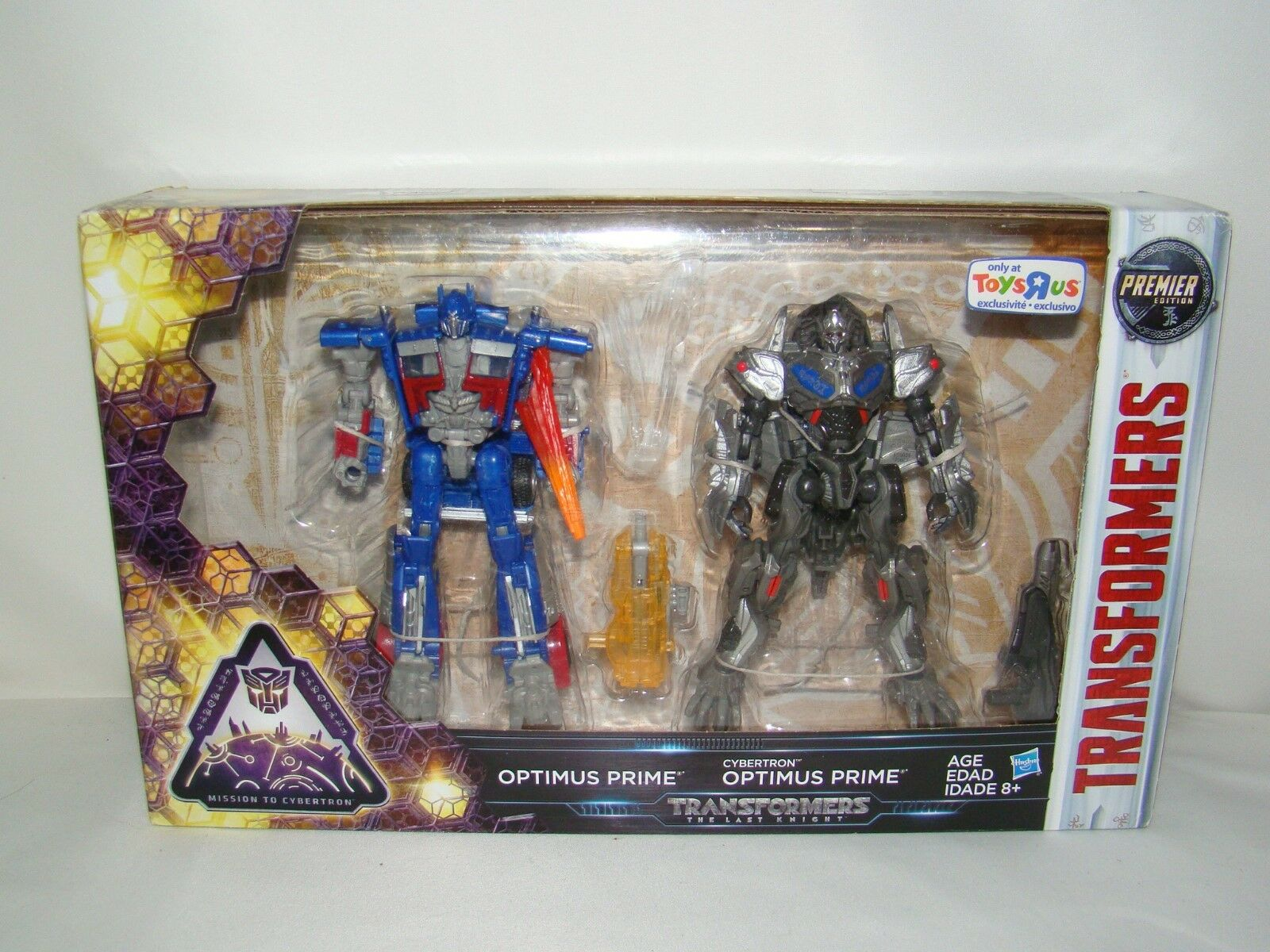 B32 Transformers Last Knight Premier Edition Cybertron Optimus Prime 2-pack 2-pack 2-pack New 36a