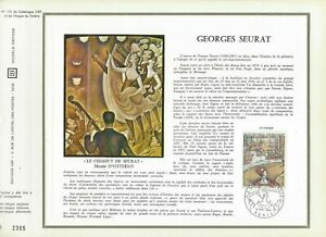 FEUILLET-CEF-1er-JOUR-FRANCE-GEORGES-SEURAT-1969