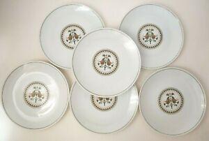 6-Noritake-Hermitage-Concerto-6226-China-8-1-4-034-Salad-Dessert-Plates-Vintage
