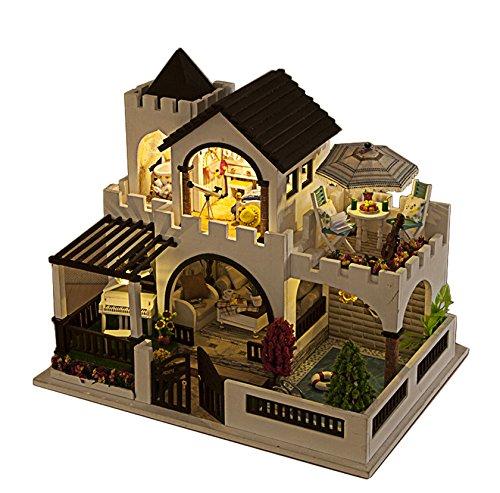 Rylai Wooden Handmade Dollhouse Miniature Diy Kit My Dream Castle