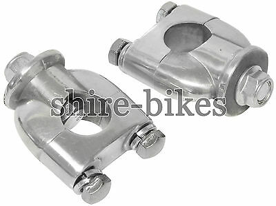 Standard Handlebar Riser Clamps suitable for use with Monkey Bike Motorcycles