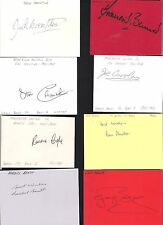 Card Signed by RONNIE BURKE the MANCHESTER UNITED Footballer