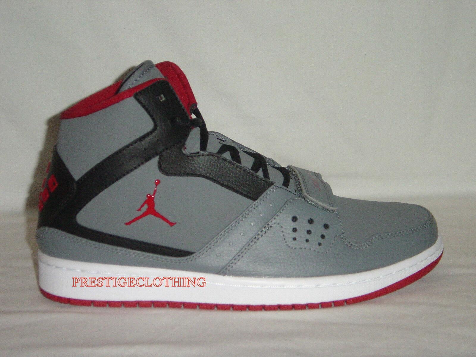 Original Nike Air Jordan 1 Flight Strap Basketball Grey Trainers 628584005