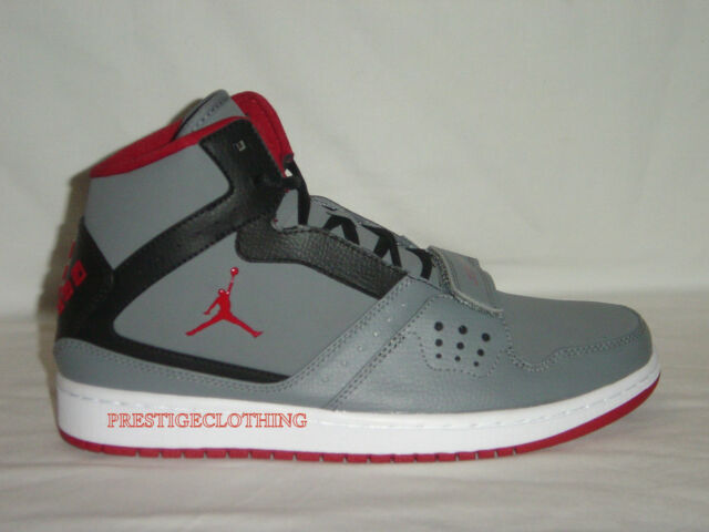 2e5c34ba9517 Original Nike Air Jordan 1 Flight Strap Basketball Grey Trainers 628584005