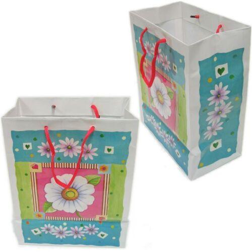 BG-037//k07g 12 PCS Spring Daisies Drawstring Tote Party Favor Gift Bags