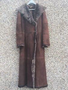 38 Length Coat Long Brown 10 Meduim Full Reversible 12 Shearling Joseph Size Uk qa8HCH