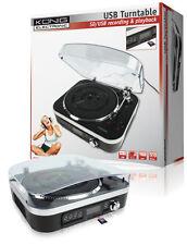 PLATINE TOURNE DISQUE VINYLE AVEC HAUT-PARLEURS CARTE SD  USB CONVERTISSEUR MP3