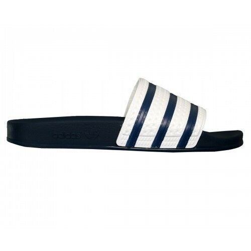 d54cc199e ... New Adidas ADILETTE Slides Slides Slides Sandals Mens White Navy Blue  Beach Flip Flops G16220 80c168 ...