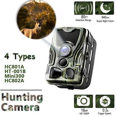 12MP Trail Camera 1080P HD Hunting Cam PIR IR Night Vision IP65 Waterproof NEW !