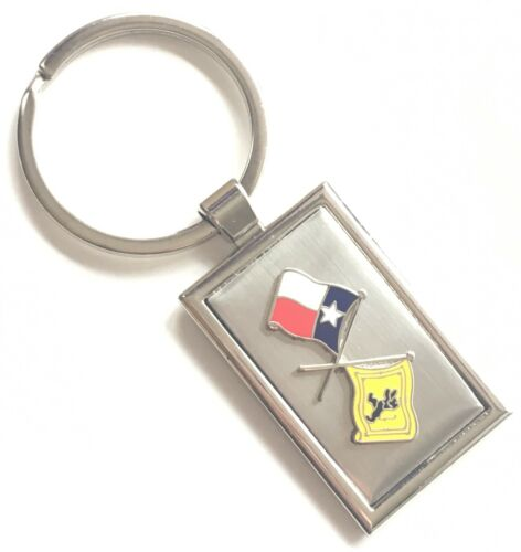 Personalised Texas & Scotland Friendship Enamel Crested Key Ring + Pouch T103