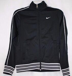 NEW-Girls-Kids-Youth-NIKE-481555-010-Black-Track-Retro-Style-Sweat-Jacket