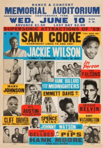 MAGNET REPRODUCTION Concert Handbill Sam Cooke 1959 Memorial Auditorium