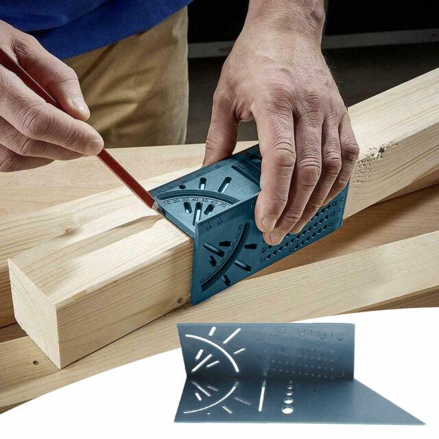 Universal Woodworking Ruler 3D Mitre Angle Measuring Gauge Measure Tool