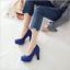 Indexbild 11 - 33-48 10.5cm Blockabsatz Elegant Pumps High Heels Party Damen Schuhe Crossdress