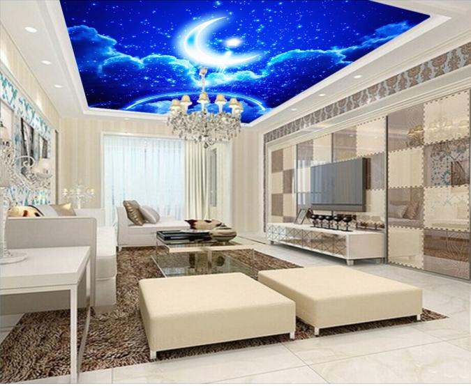 3D Blau Moon Starlight 79 Wall Paper Wall Print Decal Wall Deco AJ WALLPAPER