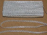 8 mm silver braid gimp upholstery trim Per 2 meter