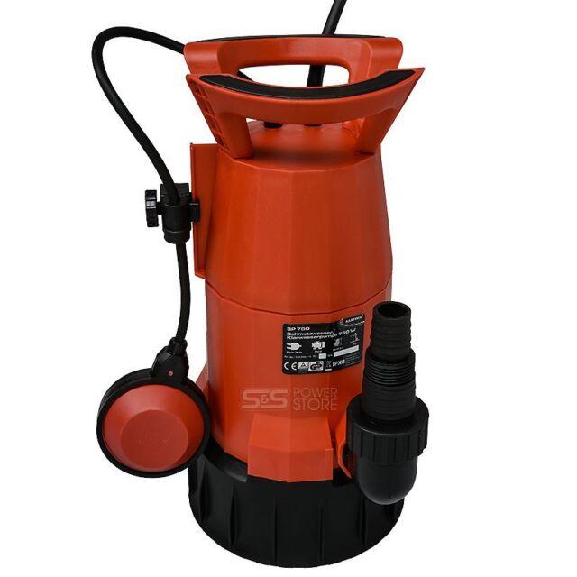 750 Watt Schmutzwasser Tauchpumpe Schmutzwasserpumpe Gartenpumpe 12.500 l//h