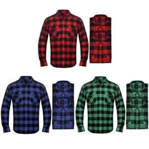 2 camisas de franela tartán a cuadros azul negro para hombre