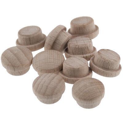 Holz Abdeckkappen Pilzkopf Zierkappen Buche unbehandelt 25 mm Bohrloch 10 Stück