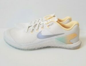 de Metcon 100 Sz Nike Grey ah8184 6 mujer Zapatillas 4 para White entrenamiento Rise Wolf qx61IdX