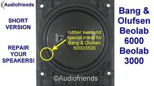 4x-Rubber-surrounds-for-speaker-repair-Bang-Olufsen-Beolab-6000-type-8480239