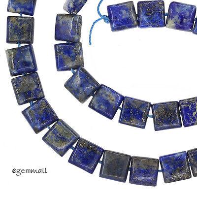"Natural Lapis Lazuli Square Cushion Beads 8mm 15.7"" #72088"
