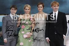 """HARRY POTTER POSTER PHOTO 12x8"""" CAST SIGNED PP JK ROWLING RADCLIFFE WATSON GRINT"""