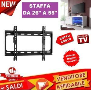 STAFFA-PORTA-PER-TV-MONITOR-DA-26-A-55-POLLICI-SUPPORTO-PARETE-MURO-FISSA-42-49