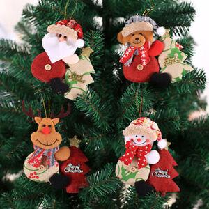 LD Santa Claus Snowman Elk Spring Doll Holiday Party Christmas Decor Ornaments