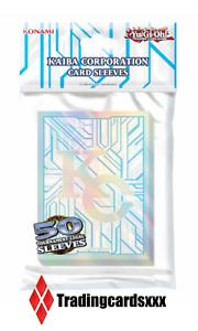 Yu-Gi-Oh-50-Proteges-Cartes-Pochettes-Sleeves-SMALL-KC-Kaiba-Corp