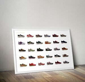 new style 7b9e9 fe3a7 Image is loading NIKE-AIR-MAX-1-LIMITED-EDITION-POSTER-PACK