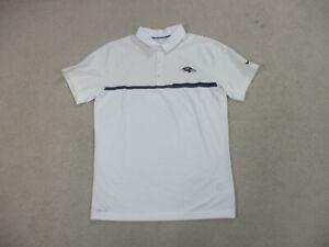 Nike-Baltimore-Ravens-Polo-Shirt-Adult-Large-White-Purple-DriFit-Football-Men