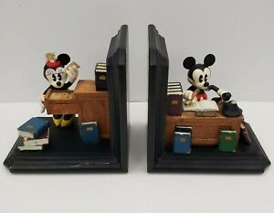 Mickey-amp-Minnie-Mouse-Bookends-Figi-Graphics-BE-DIS-201-Disney