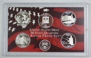2007 US Mint 50 State Quarters Proof Set 5 Coins w//COA
