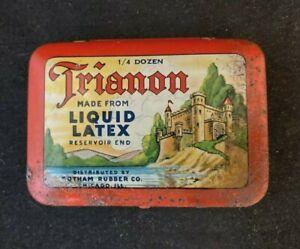 Vintag TRIANON PROPHYLACTICS CONDOM RUBBER FULL UNUSED Rare Old Advertising Sign