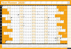 2020 Annual Calendar.Details About 2020 Annual Wall Planner Calendar Year Yearly Plan Chart Non Laminated Orange