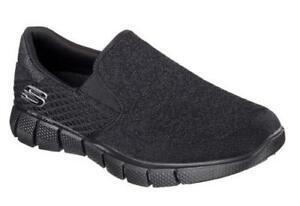 Skechers-Equalizer-2-0-Men-039-s-Slip-Ons-Black-Shoes-Memory-Foam-51521