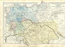 AUTRICHE AUSTRIA OSTERREICH DEUTSCHLAND GERMANY MAP CARTE ATLAS 1870